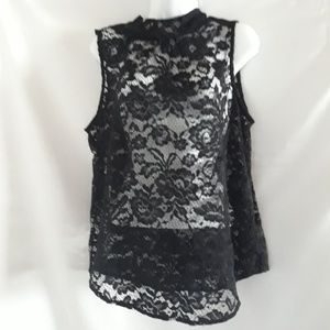 Who What Wear black lace tank